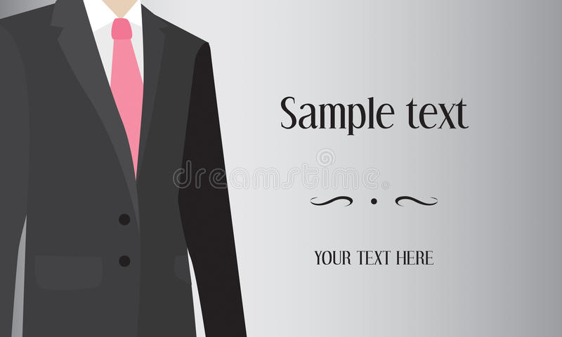 Man in suit, business background vector illustration