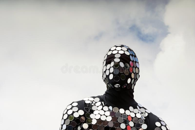 Man in a suit, the concept of a defender of mankind royalty free stock photo