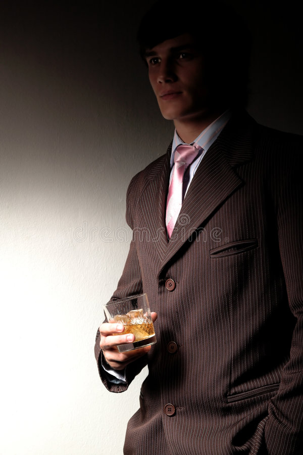 Download Man in suit with drink stock image. Image of relax, crystal - 2004637