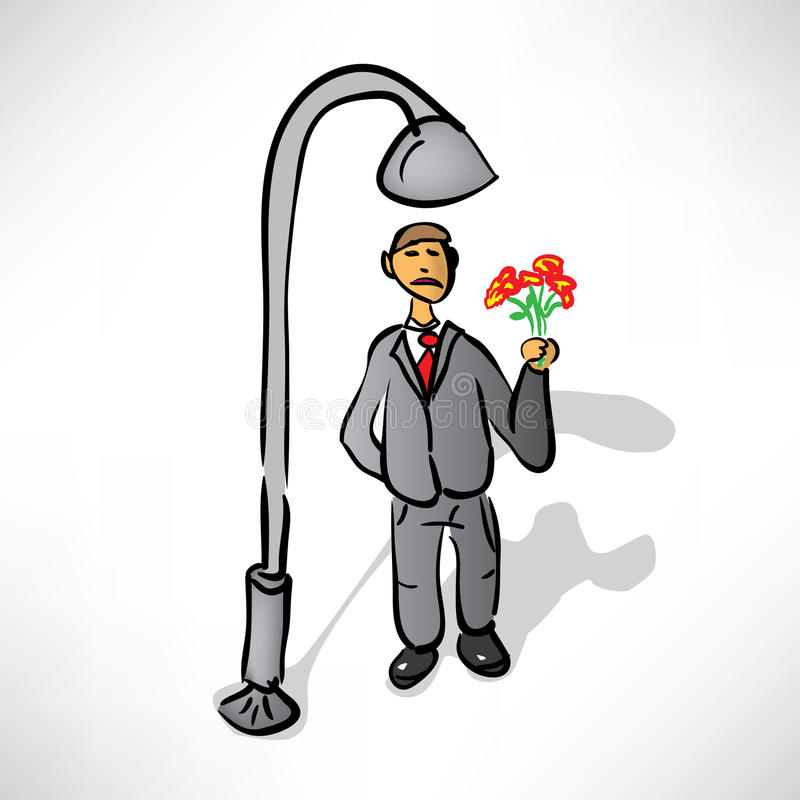 Download Man In A Suit With The Expected Rendezvous Stock Vector - Image: 33844462