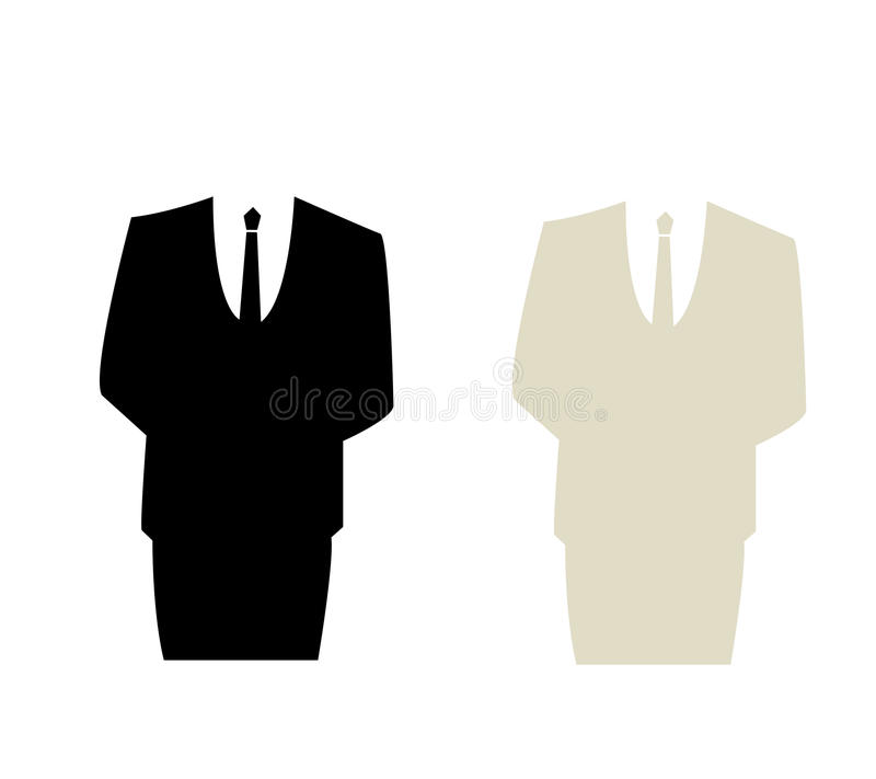 Man in suit graphic stock vector. Illustration of office