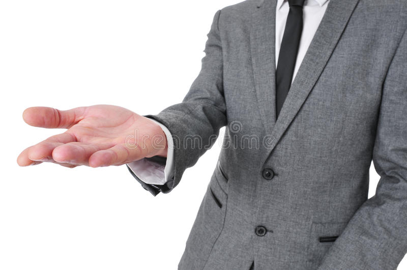Download Man In Suit With His Hand Open Stock Image - Image: 37704557