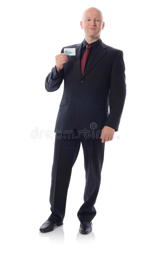 Man In Suit Holding Credit Card Stock Images