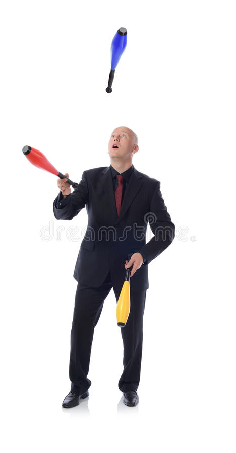 Download Man in suit multitasking stock image. Image of professional - 26888745