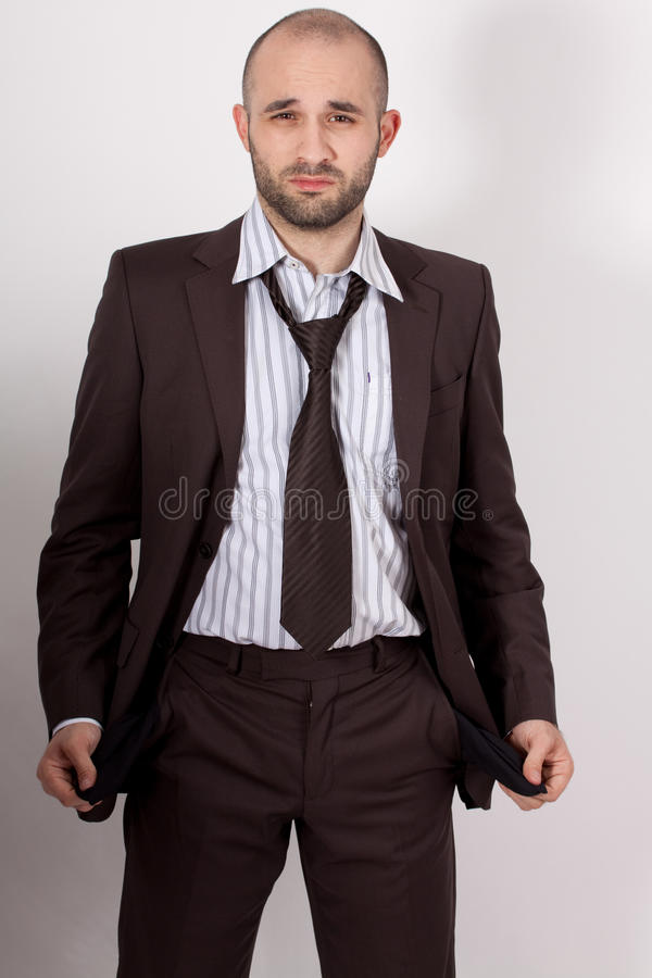 Download Man With Suit Is Poor Stock Photo - Image: 17875990