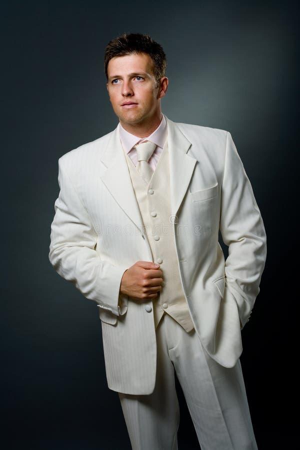 man suit white στοκ εικόνα