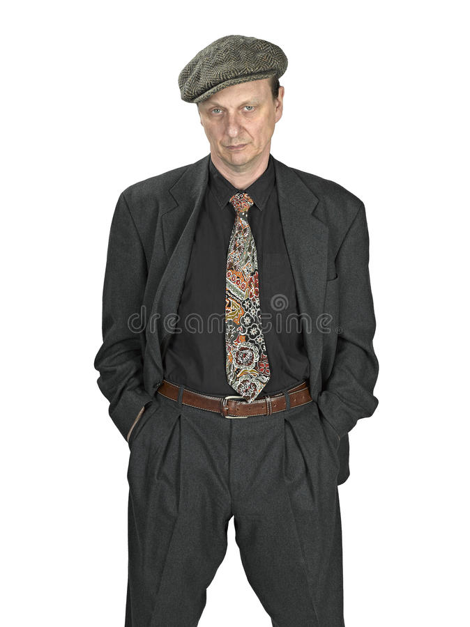 Man In Suits Dress , Bad Attitude Stock Photography