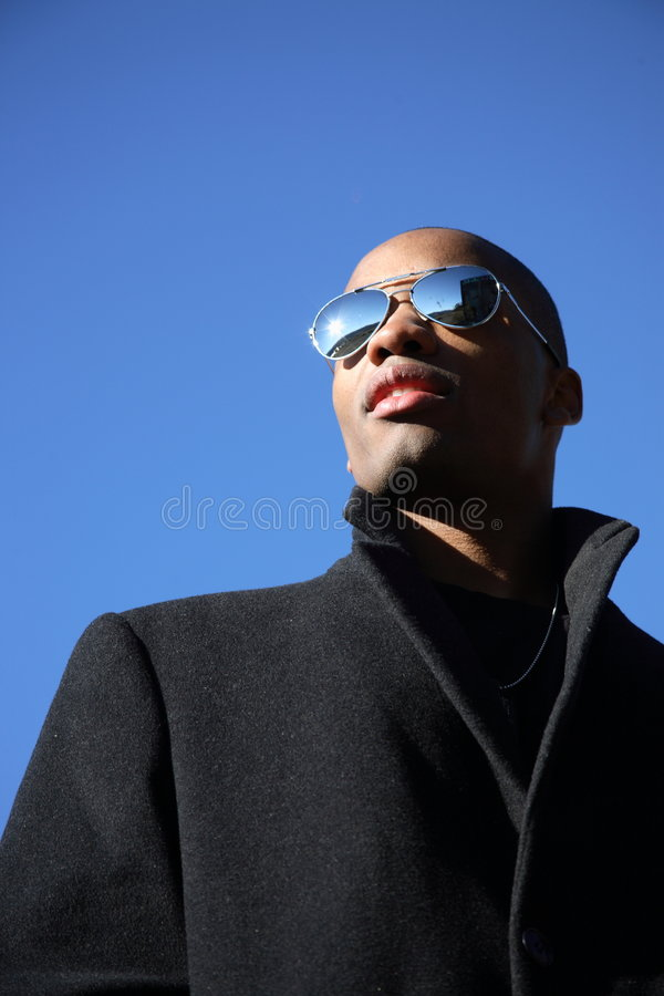 Man with sunglasses royalty free stock images