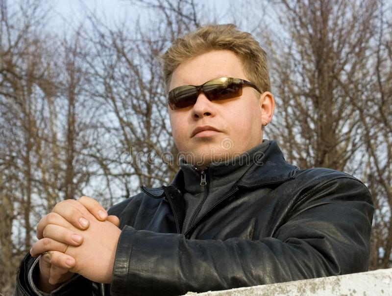 Download Man in sunglasses stock photo. Image of trees, sunglasses - 663538