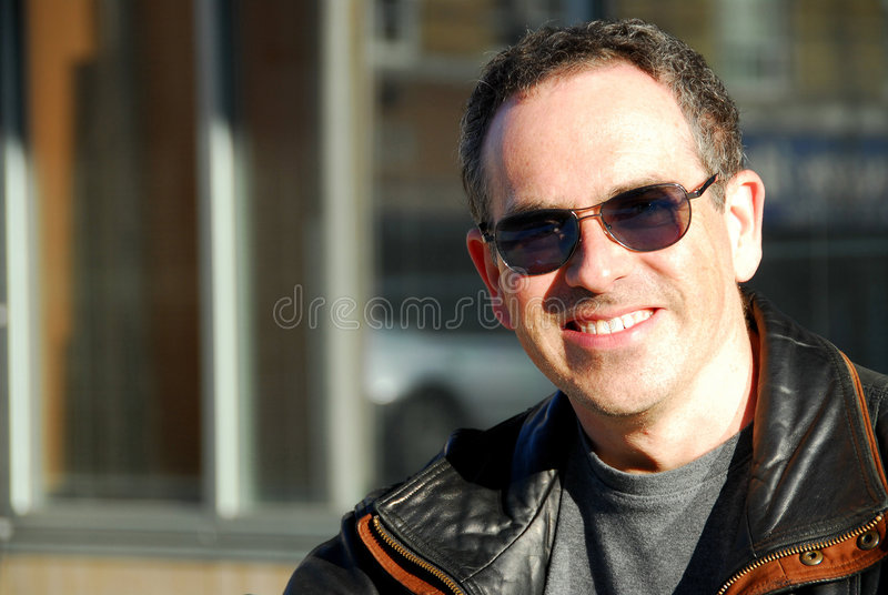 Man in sunglasses royalty free stock photo