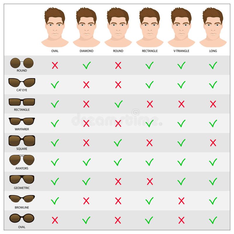 Free Man Sunglasses Shapes 3. Royalty Free Stock Images - 75712679