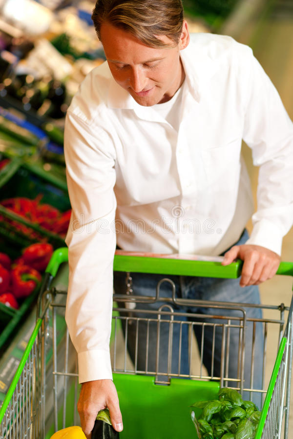 Download Man In Supermarket Shopping Groceries Stock Photo - Image: 15561570