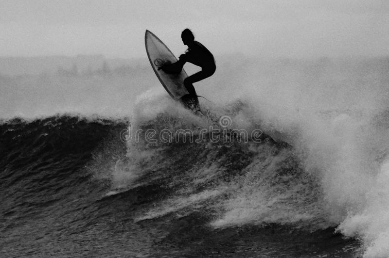 Man On A Surfboard Riding A Wave Free Public Domain Cc0 Image