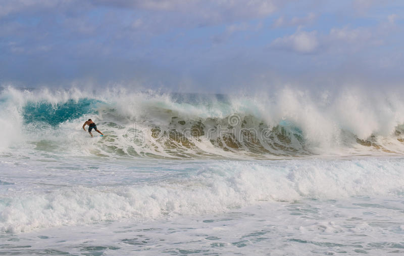 man surfing on the big wave royalty free stock photos