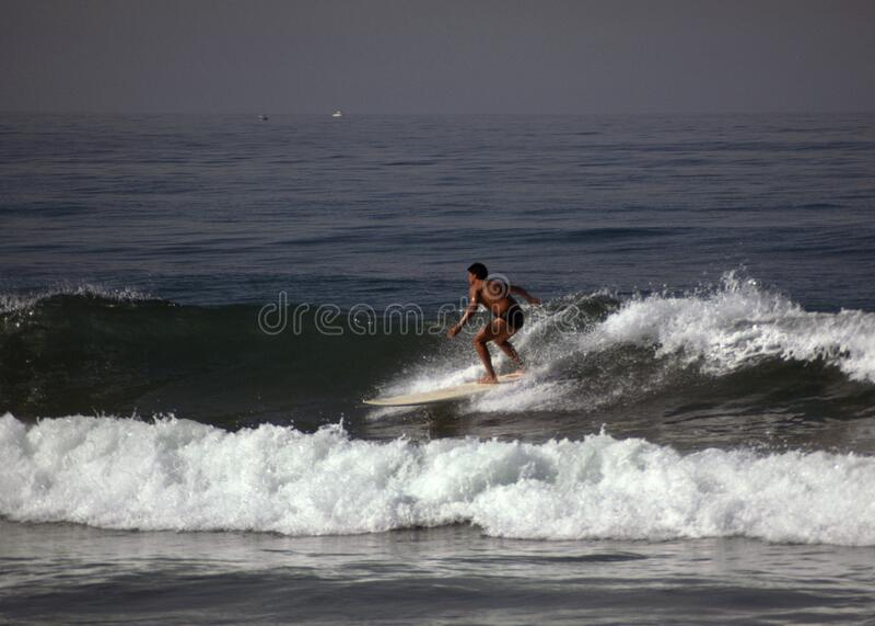 Man Surfing in California stock image