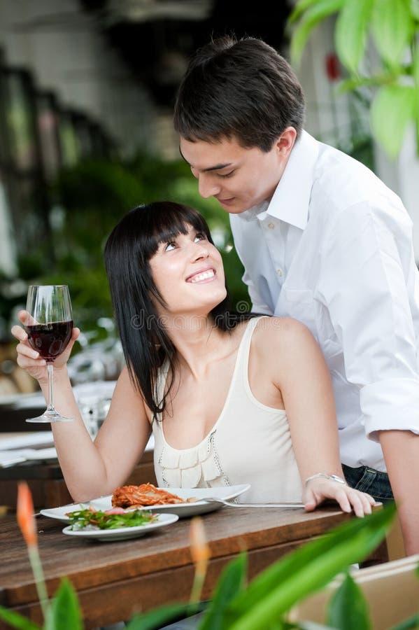 Man Surprises Partner stock photo
