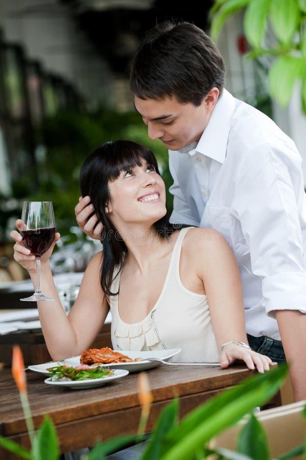 Man Surprises Partner royalty free stock image