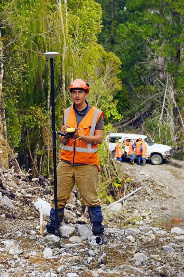 Surveyor at work stock photography