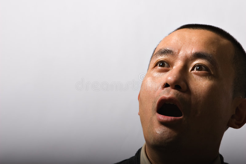 Download Man With Sweating Face Shocked Royalty Free Stock Photos - Image: 4721208