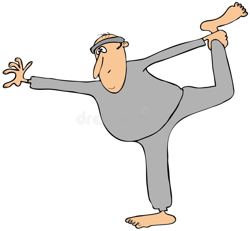 Download Man in sweats stretching stock illustration. Image of sweats - 40114433