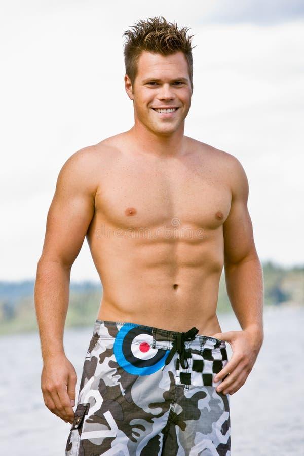 Man In Swim Trunks Royalty Free Stock Image