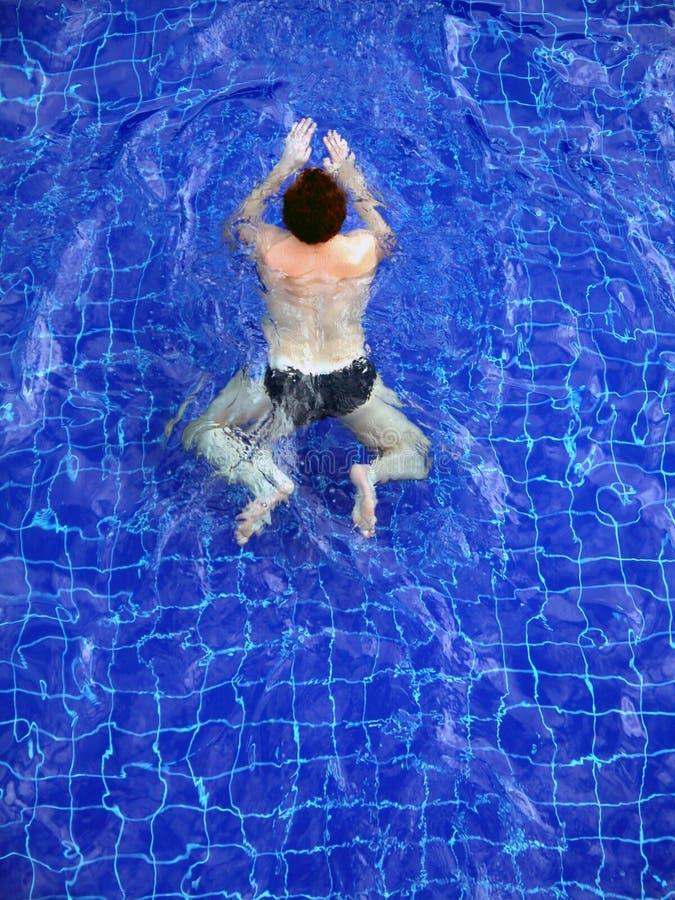 Man swiming royalty free stock images
