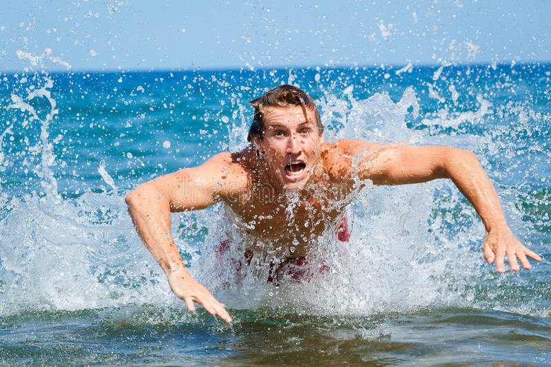 Download Man Swimming Butterfly Strokes Stock Image - Image: 24528377
