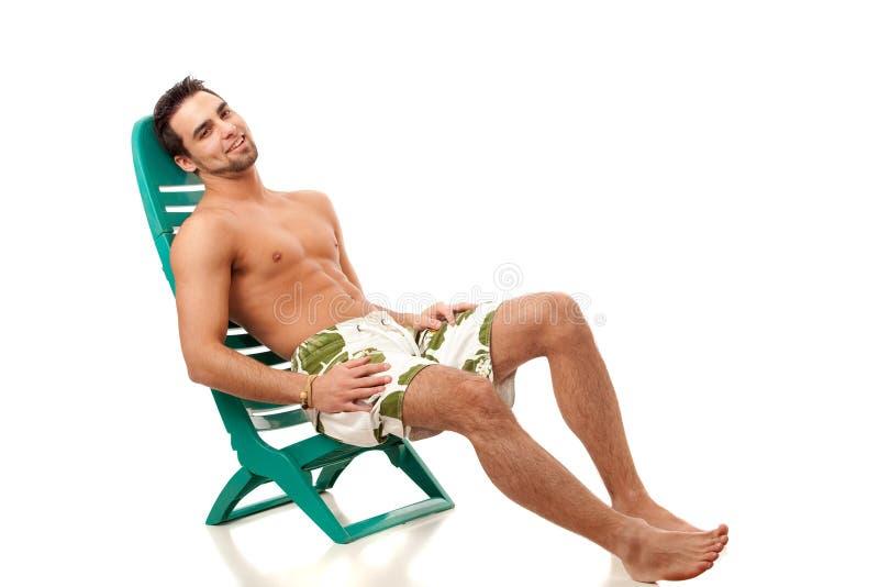 Download Man in Swimwear stock photo. Image of sitting, summer - 18232800