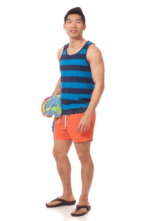 Download Man in Swimwear stock photo. Image of orange, shorts - 29050322