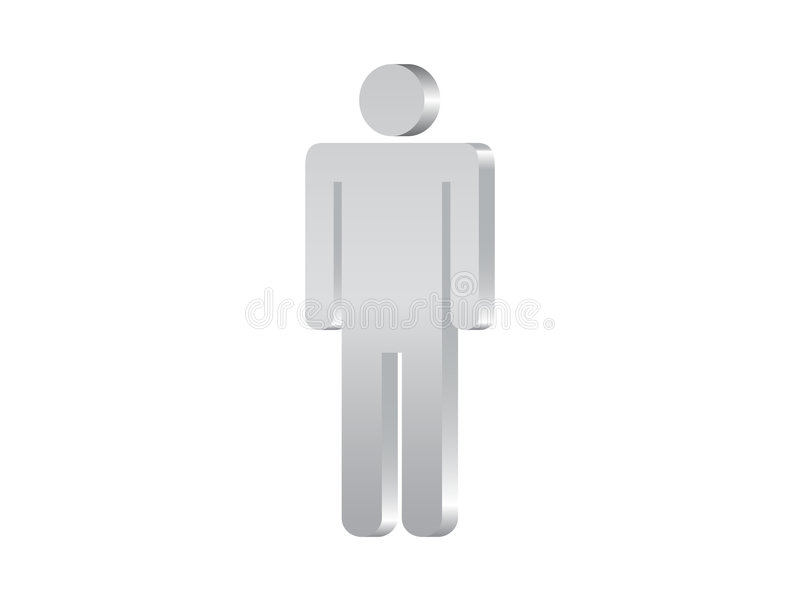Man symbol 3d royalty free illustration