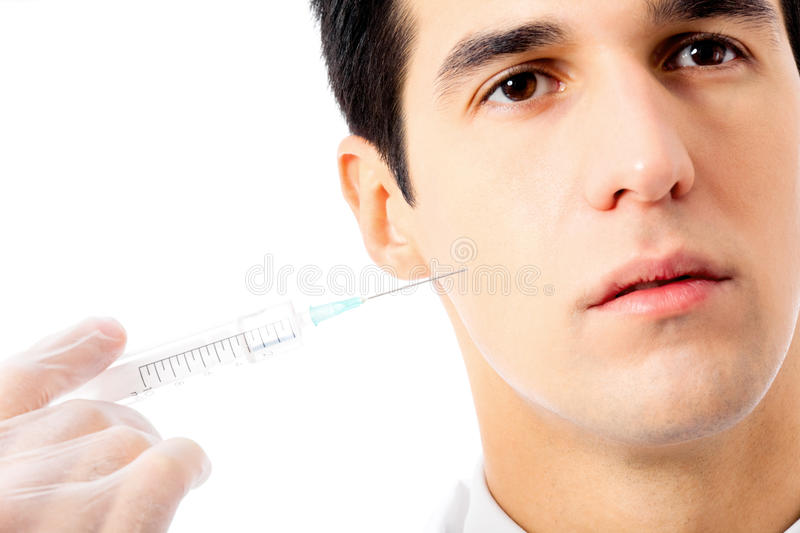 Download Man With Syringe, On White Stock Photography - Image: 20697882