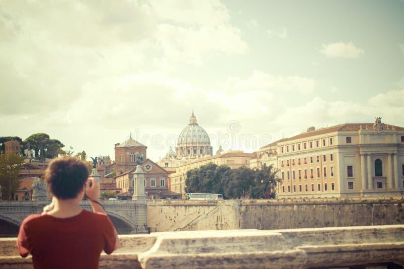 Man Taking Photo At Tiber Free Public Domain Cc0 Image