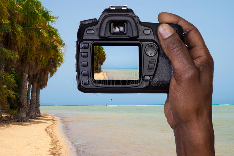 Download Man Taking A Picture Of A Beach Stock Photo - Image: 34781388
