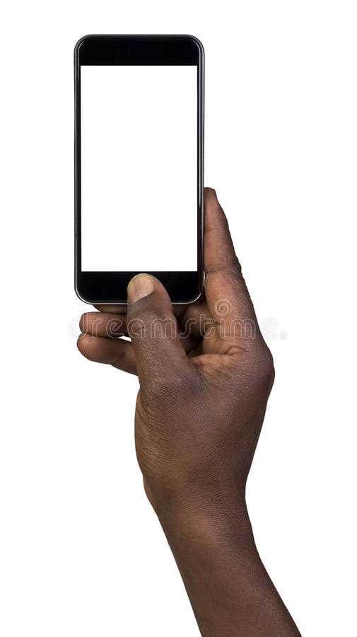 Man taking a picture using a smart phone. Isolated on white royalty free stock images