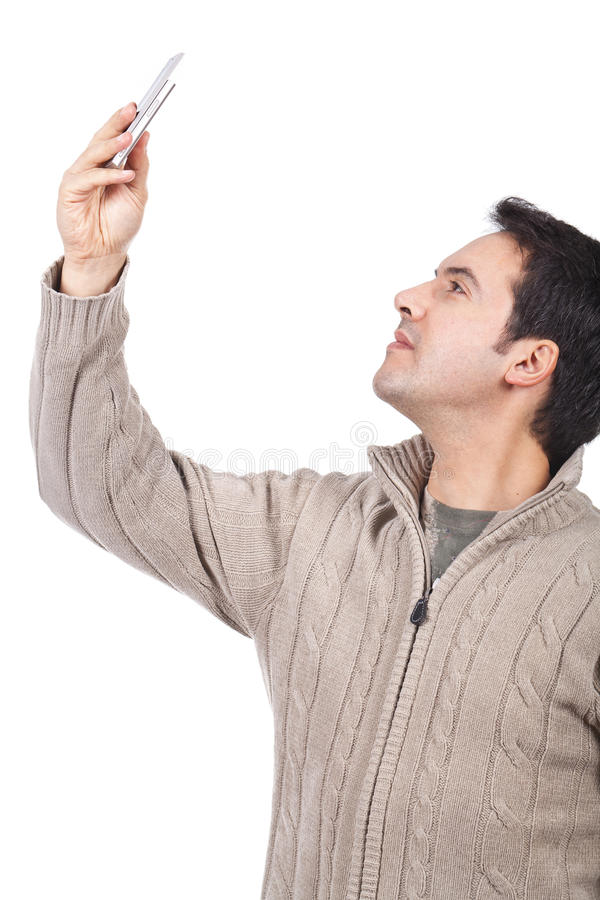 Download Man Taking Pictures With His Cellphone Royalty Free Stock Image - Image: 24273906