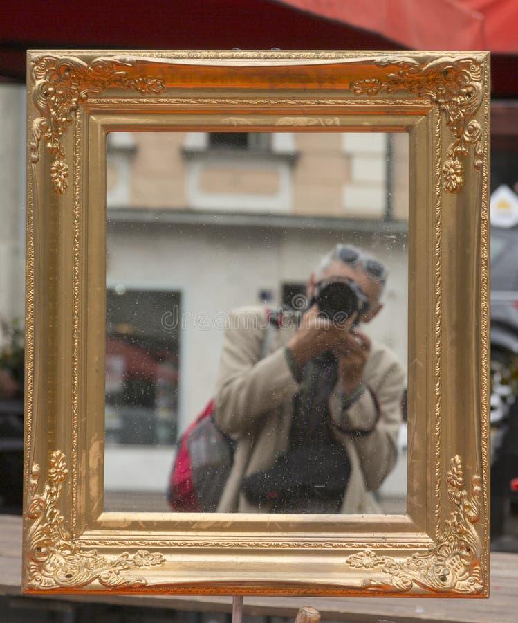 Man taking self portrait royalty free stock photos