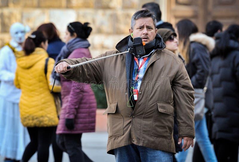 Man taking a selfie royalty free stock photos
