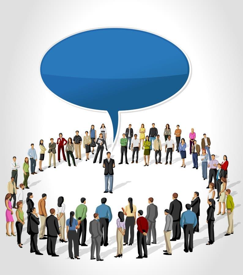 Download Man Talking By Speech Balloon Stock Vector - Illustration: 27709149