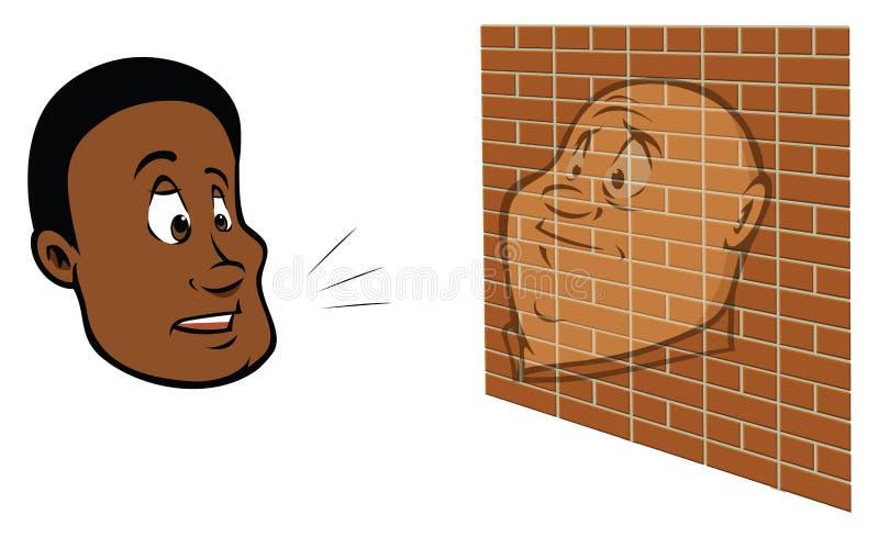 Man Talking To A Brick Wall Royalty Free Stock Photos