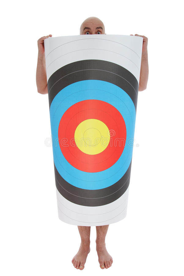 Man With Target Stock Photo