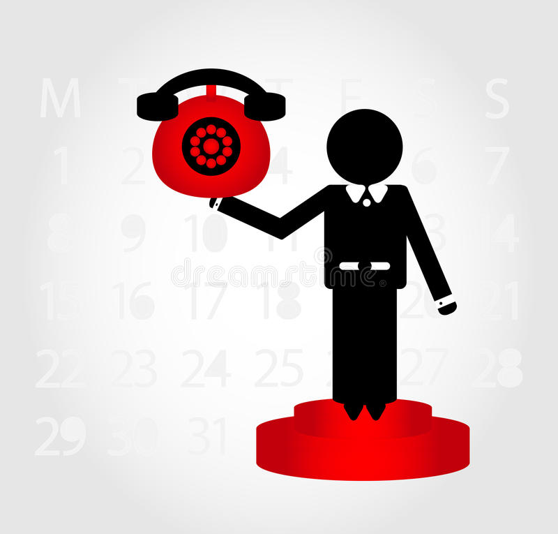 Download Man with  telephone stock vector. Illustration of businessman - 20339338