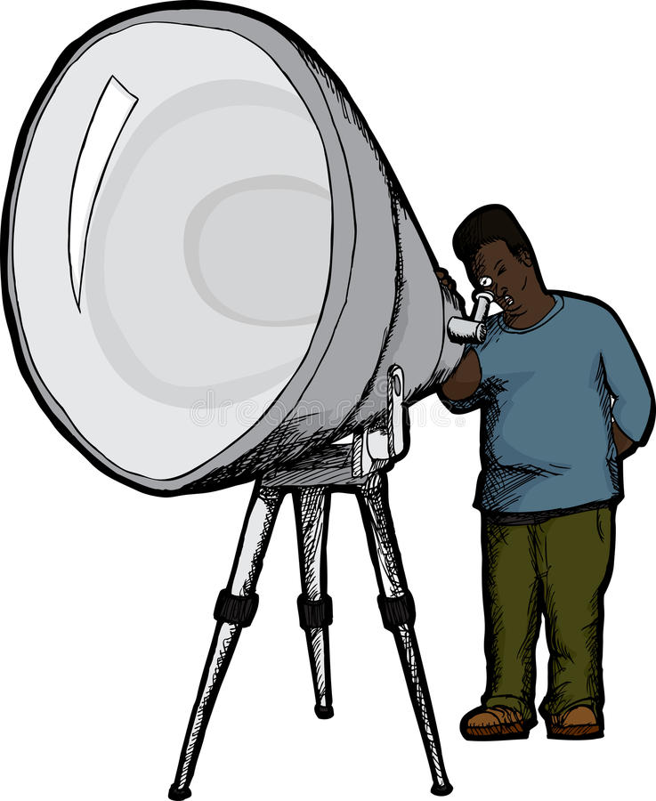 Download Man With Telescope stock vector. Illustration of amateur - 24382171