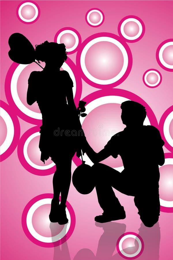 Download Man telling his feeling stock illustration. Image of honeymoon - 7320235