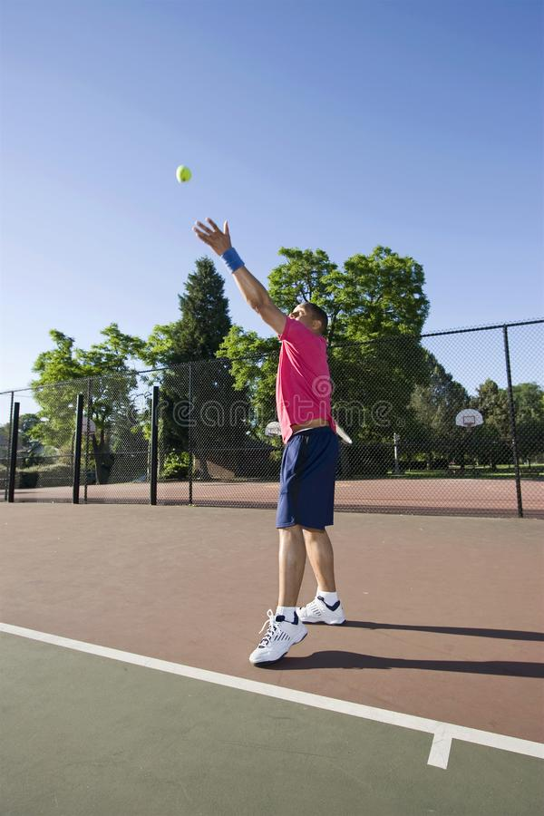 Download Man On Tennis Court Playing Tennis - Vertical Stock Image - Image: 5800877