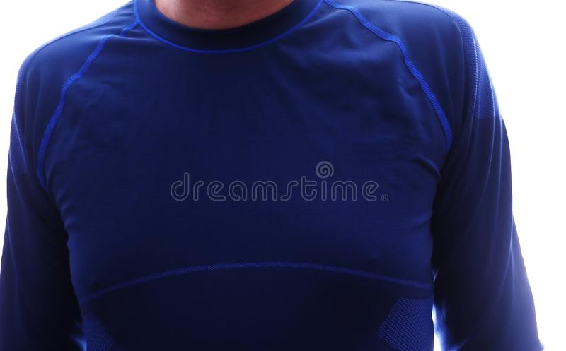 Man thermal underwear, beautiful fabric, fits the body and chest. royalty free stock photos