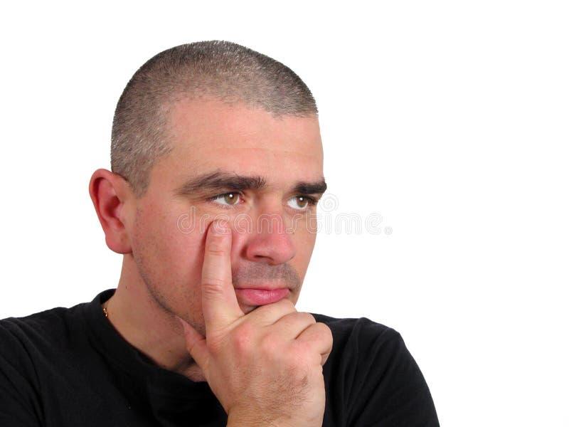 Man thinking royalty free stock photos