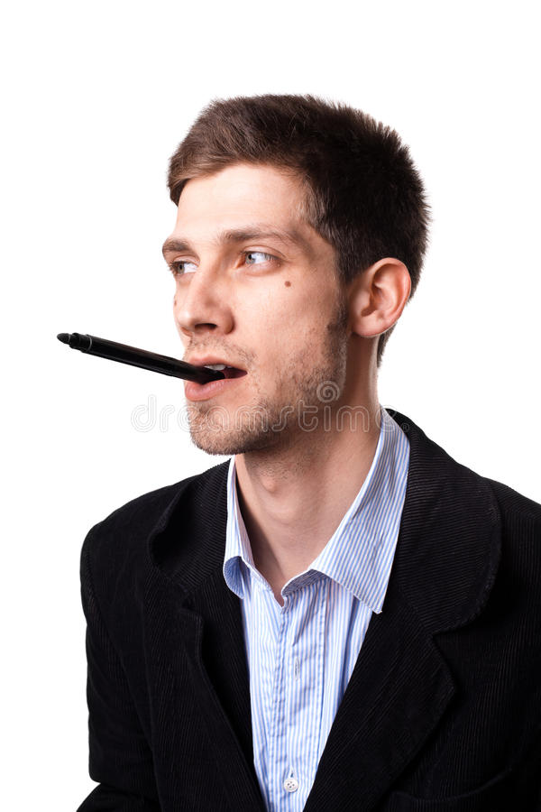 Free Man Thinking About A Solution 1 Royalty Free Stock Photography - 20255357