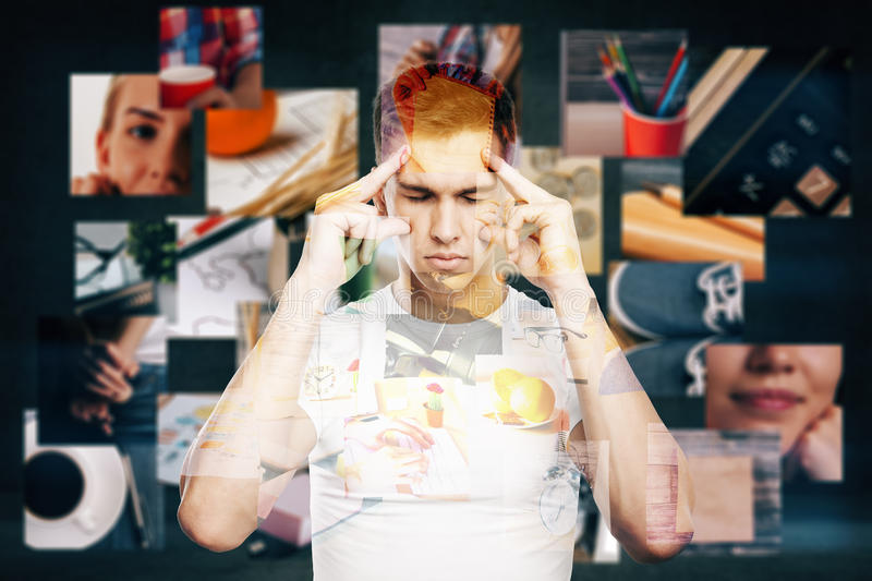 Man thinking about life royalty free stock photo