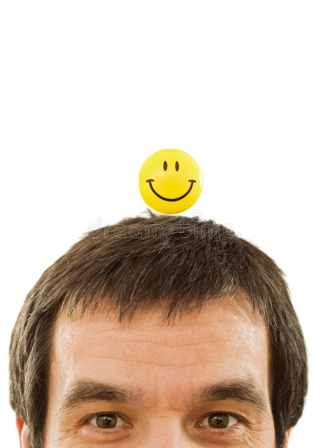 Man thinking positive royalty free stock images