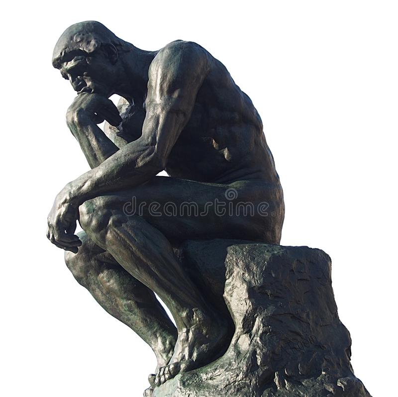 Free Man Thinking - The Thinker By Rodin Royalty Free Stock Image - 109147026